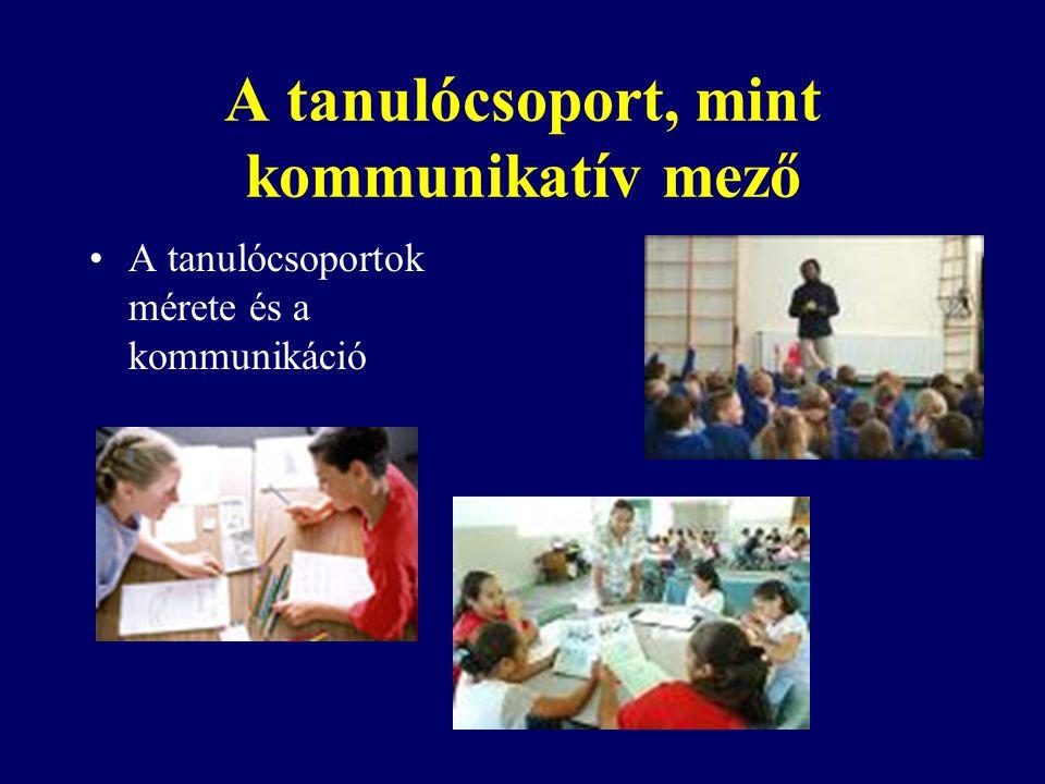 A tanulócsoport, mint kommunikatív mező