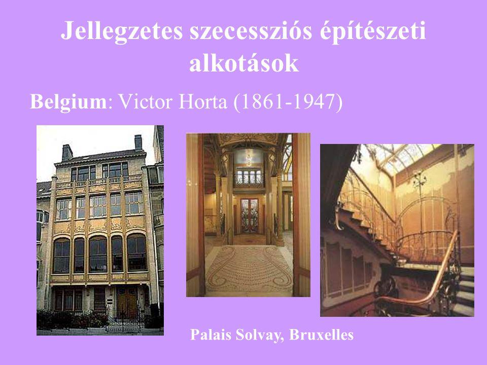 Jellegzetes szecessziós építészeti alkotások