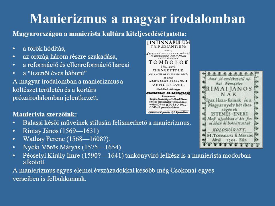 Manierizmus a magyar irodalomban