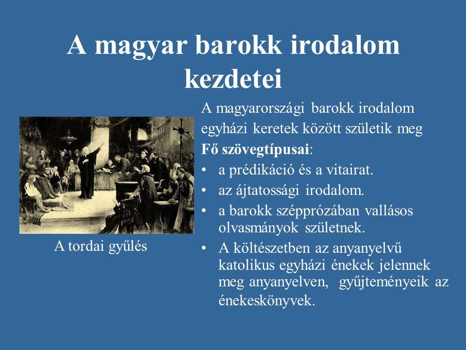 A magyar barokk irodalom kezdetei