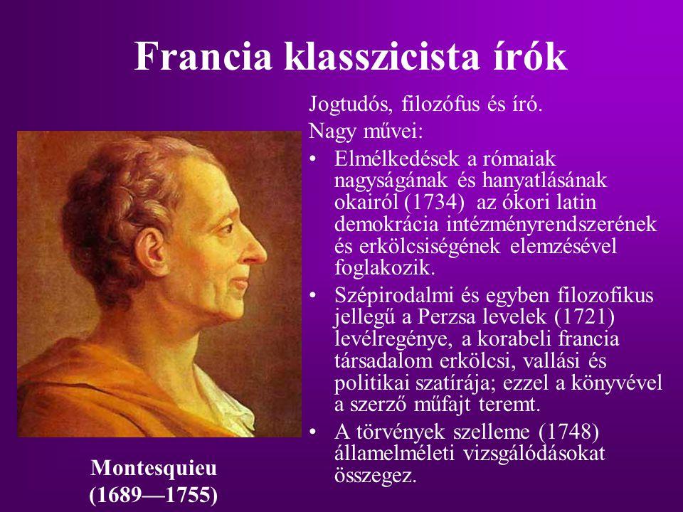 Francia klasszicista írók