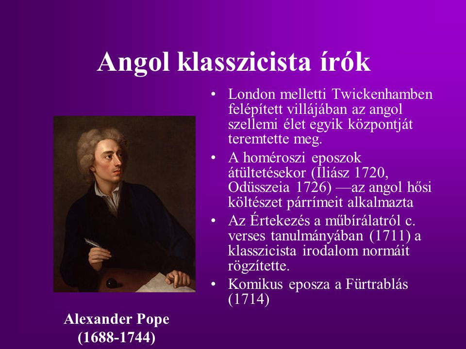 Angol klasszicista írók