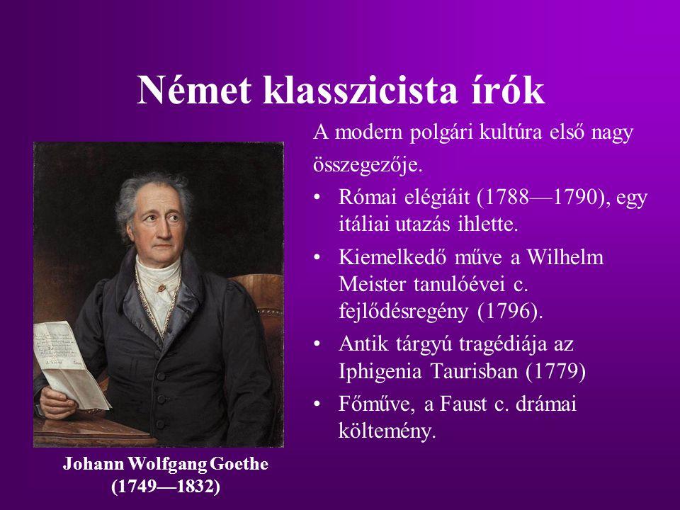 Német klasszicista írók