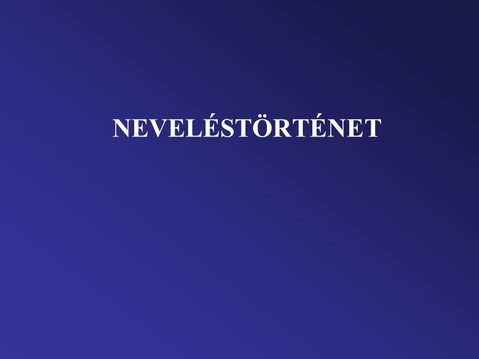 NEVELÉSTÖRTÉNET