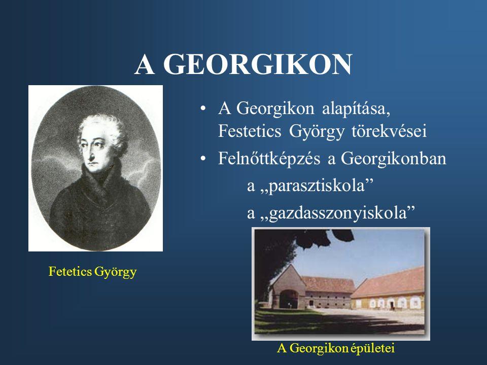 A GEORGIKON A Georgikon alapítása, Festetics György törekvései