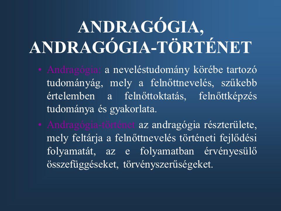 ANDRAGÓGIA, ANDRAGÓGIA-TÖRTÉNET