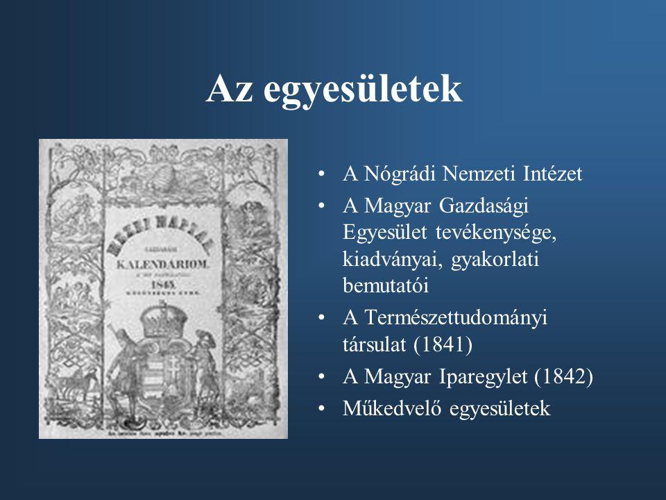 Az egyesületek A Nógrádi Nemzeti Intézet
