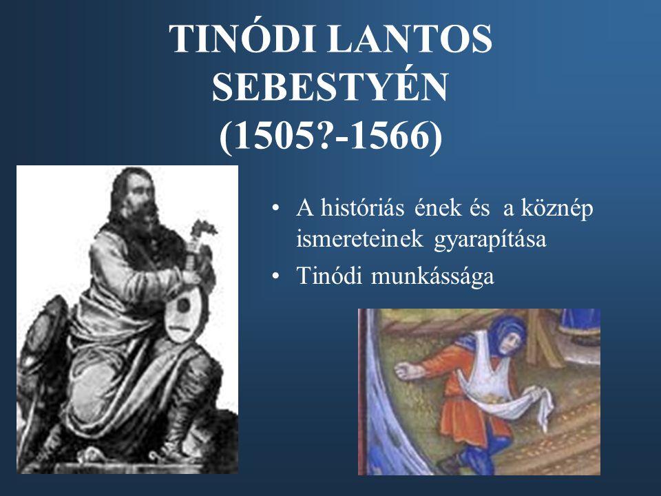 TINÓDI LANTOS SEBESTYÉN (1505 -1566)