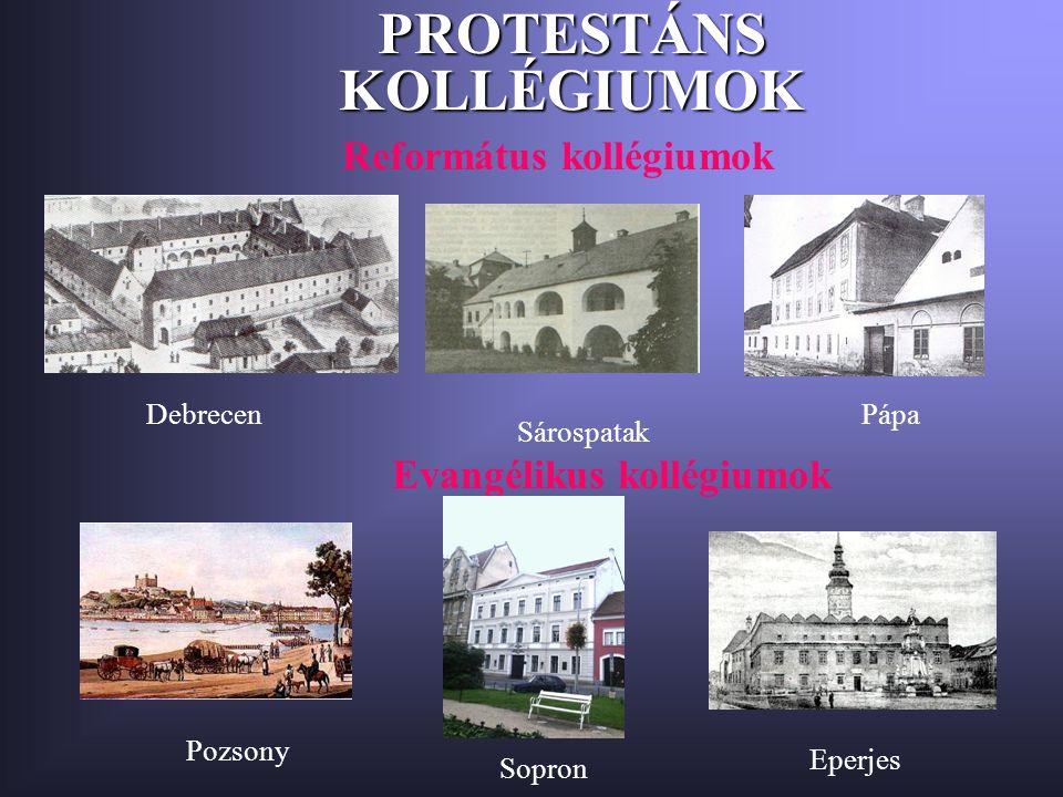 PROTESTÁNS KOLLÉGIUMOK