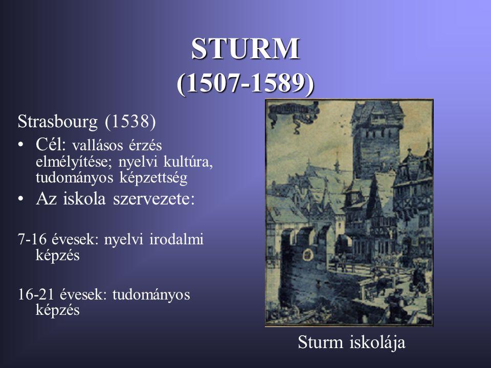 STURM (1507-1589) Strasbourg (1538)