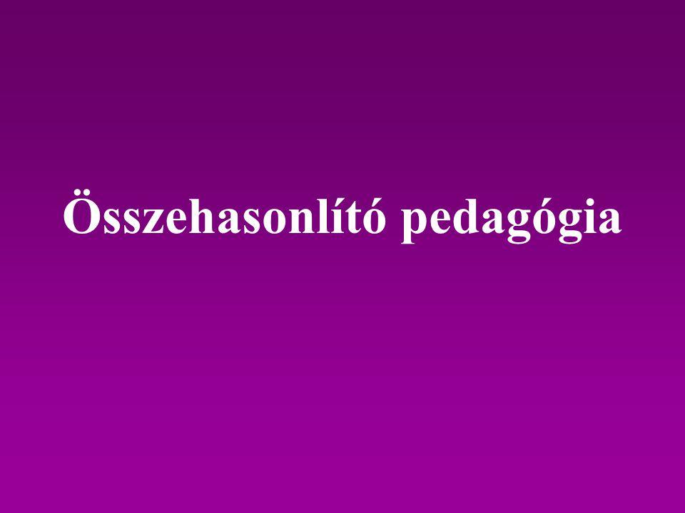 Összehasonlító pedagógia