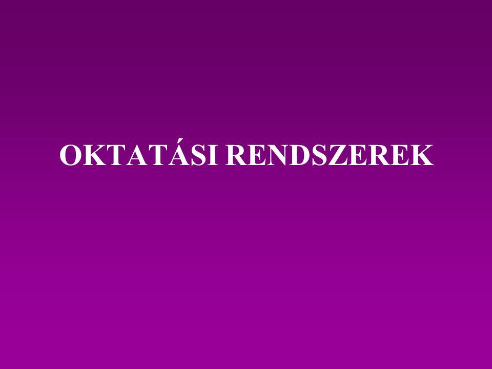 OKTATÁSI RENDSZEREK