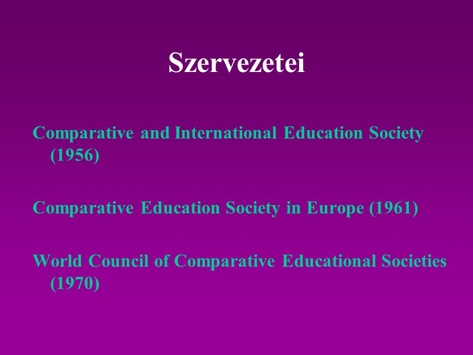Szervezetei Comparative and International Education Society (1956)