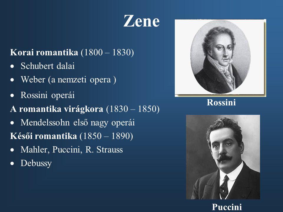 Zene Korai romantika (1800 – 1830) Schubert dalai