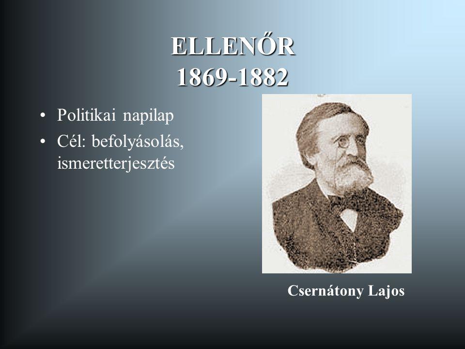 ELLENŐR 1869-1882 Politikai napilap