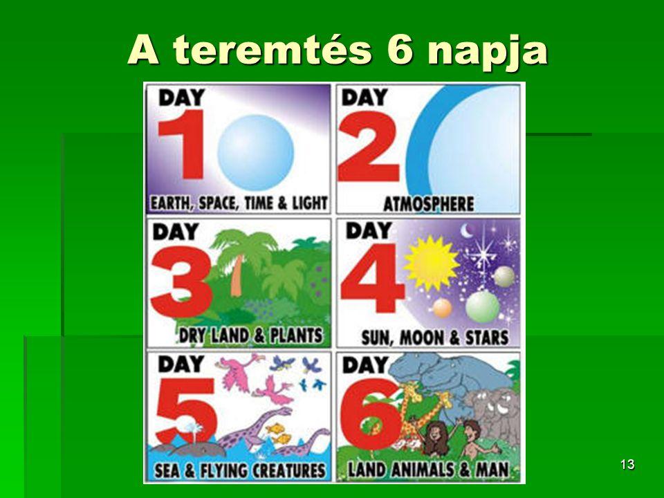 A teremtés 6 napja
