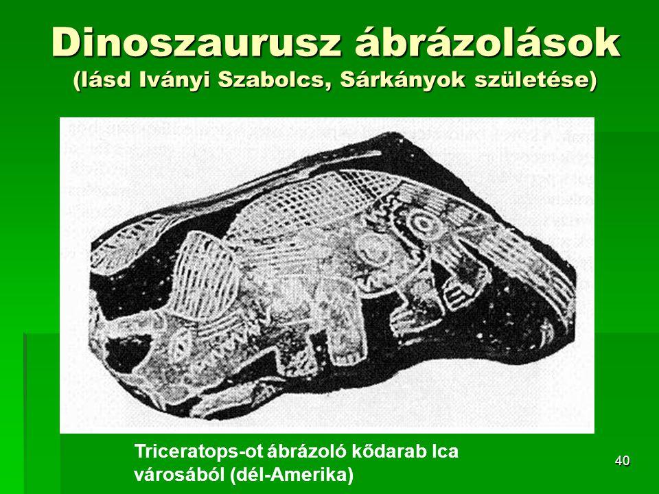 Dinoszaurusz ábrázolások (lásd Iványi Szabolcs, Sárkányok születése)