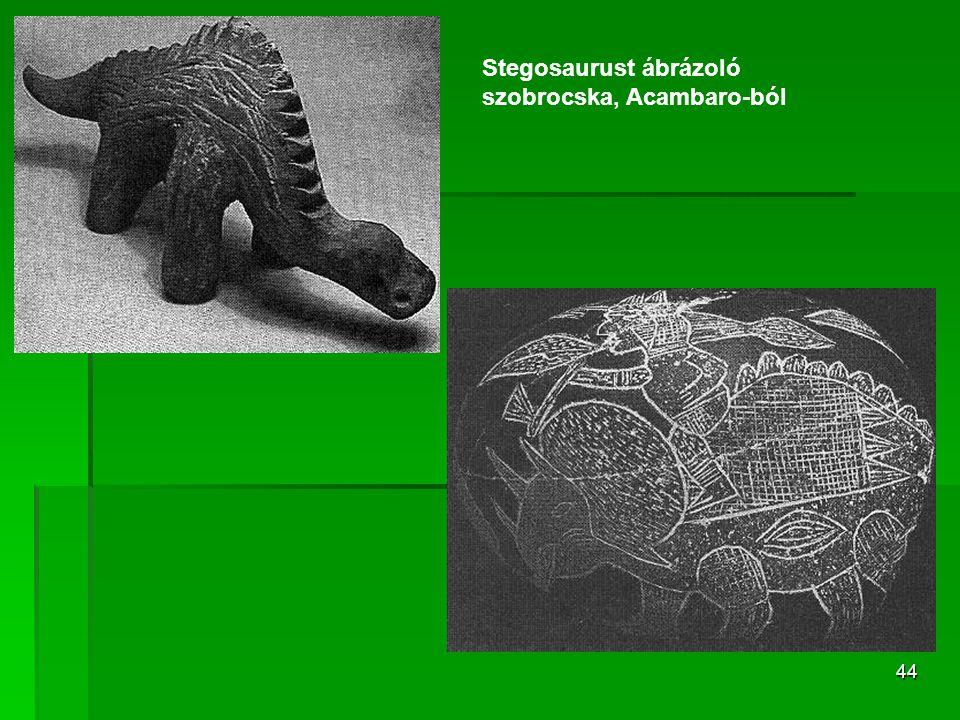 Stegosaurust ábrázoló szobrocska, Acambaro-ból