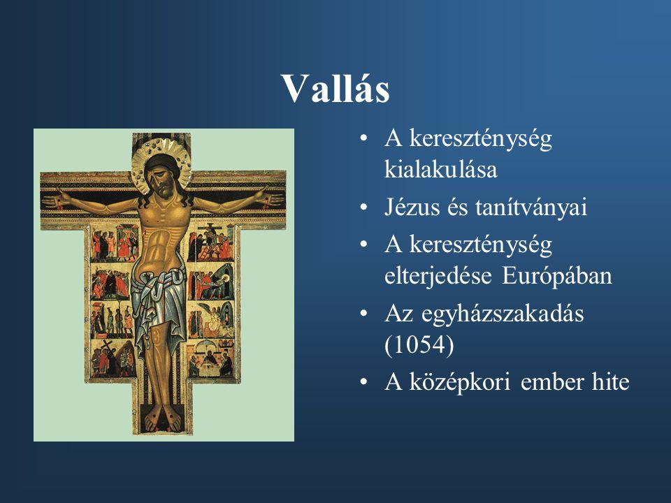 Vallás A kereszténység kialakulása Jézus és tanítványai