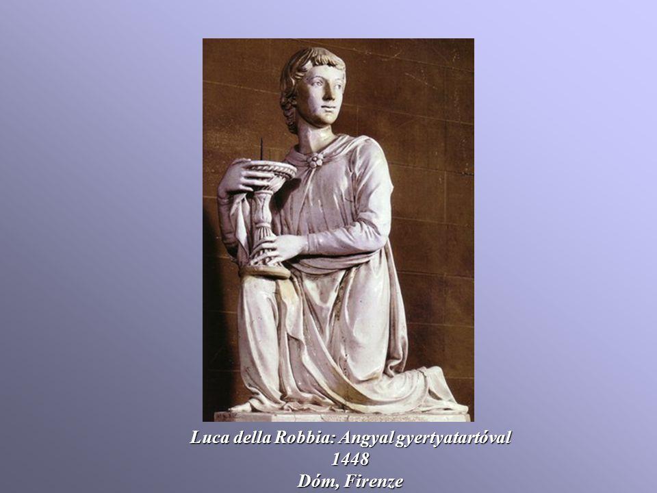 Luca della Robbia: Angyal gyertyatartóval
