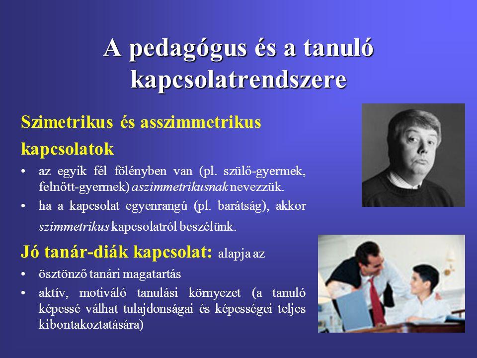A pedagógus és a tanuló kapcsolatrendszere