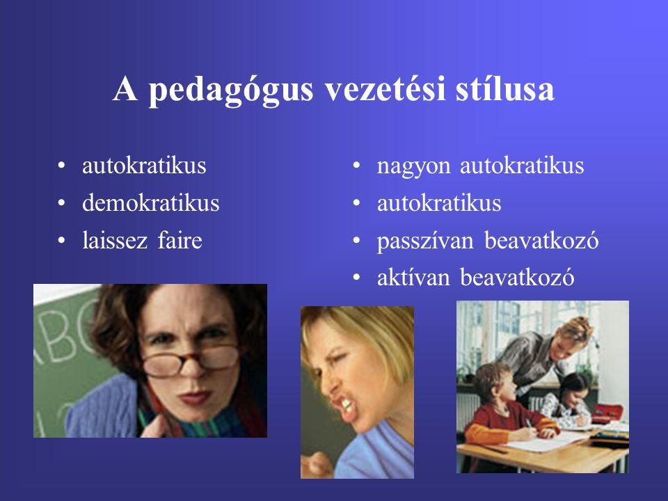 A pedagógus vezetési stílusa