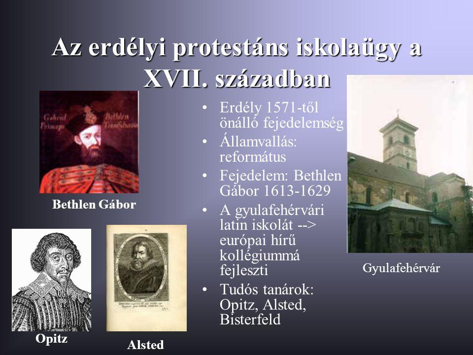 Az erdélyi protestáns iskolaügy a XVII. században