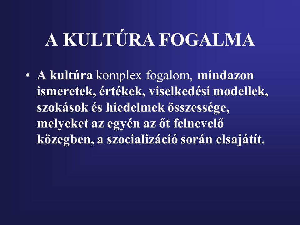 A KULTÚRA FOGALMA