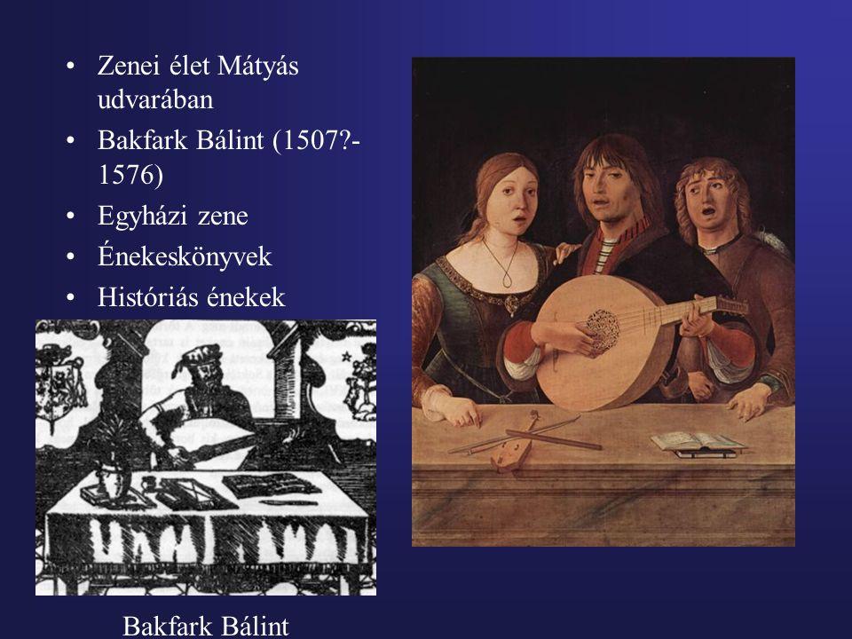 Zenei élet Mátyás udvarában