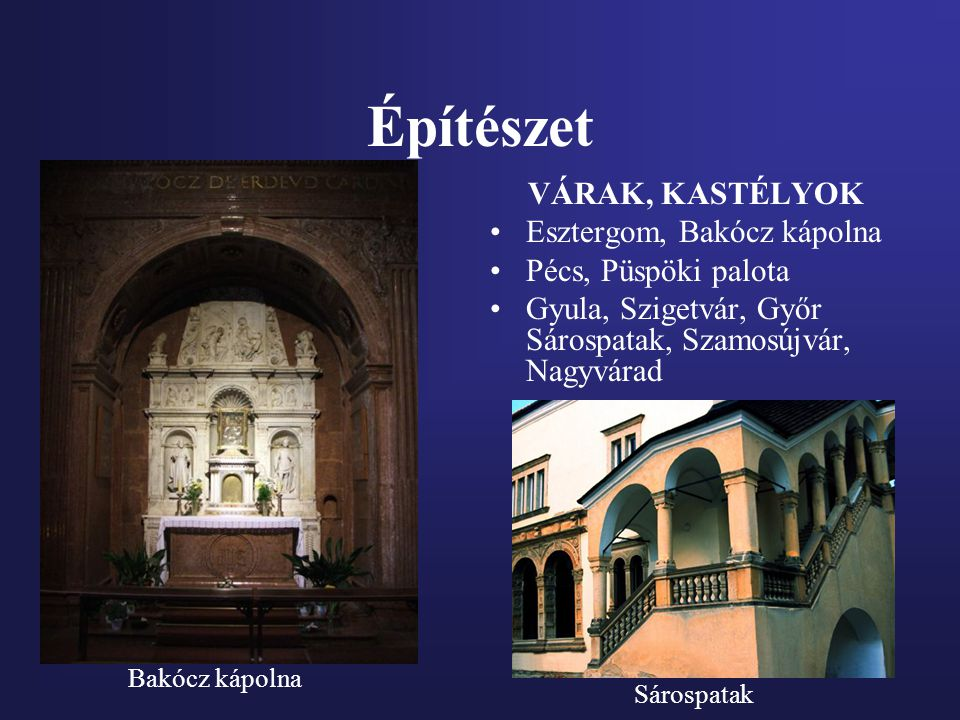 Építészet VÁRAK, KASTÉLYOK Esztergom, Bakócz kápolna