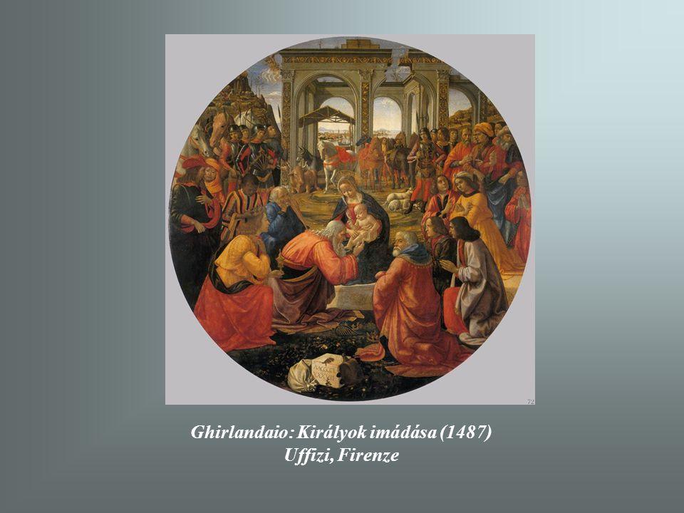 Ghirlandaio: Királyok imádása (1487)