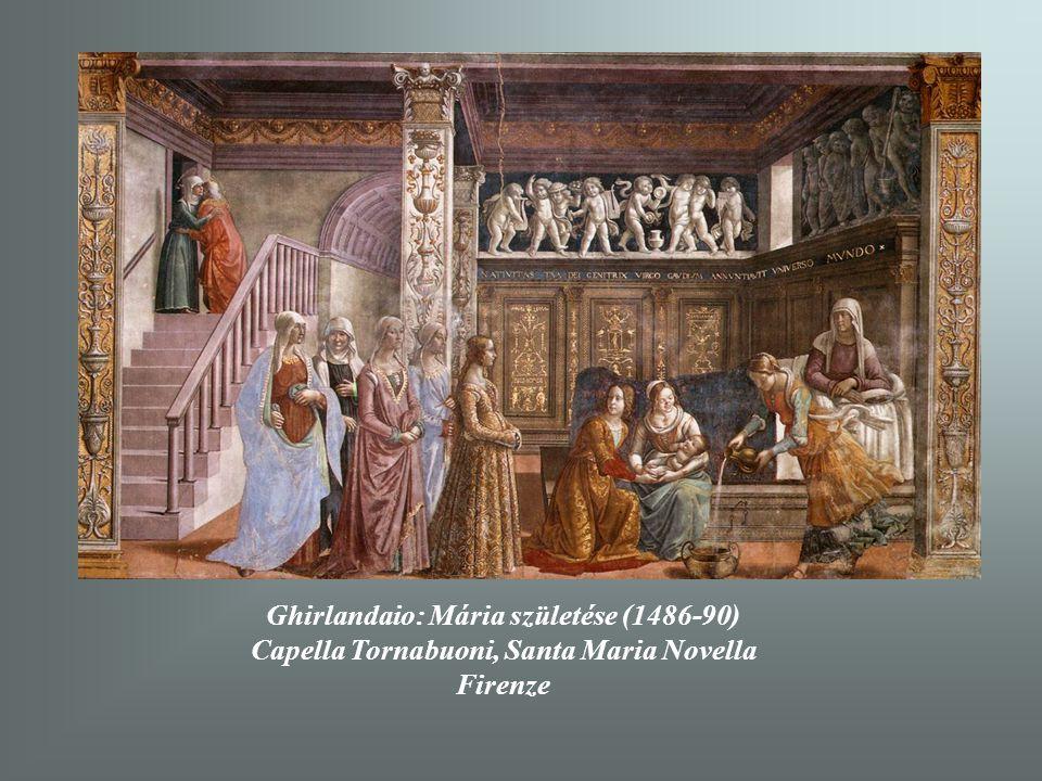 Ghirlandaio: Mária születése (1486-90)