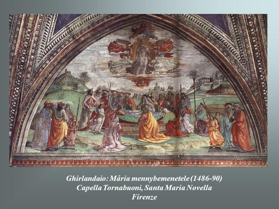 Ghirlandaio: Mária mennybemenetele (1486-90)