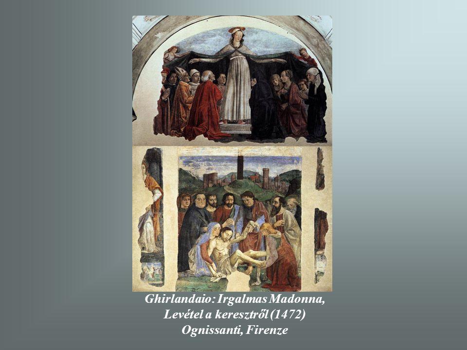 Ghirlandaio: Irgalmas Madonna, Levétel a keresztről (1472)