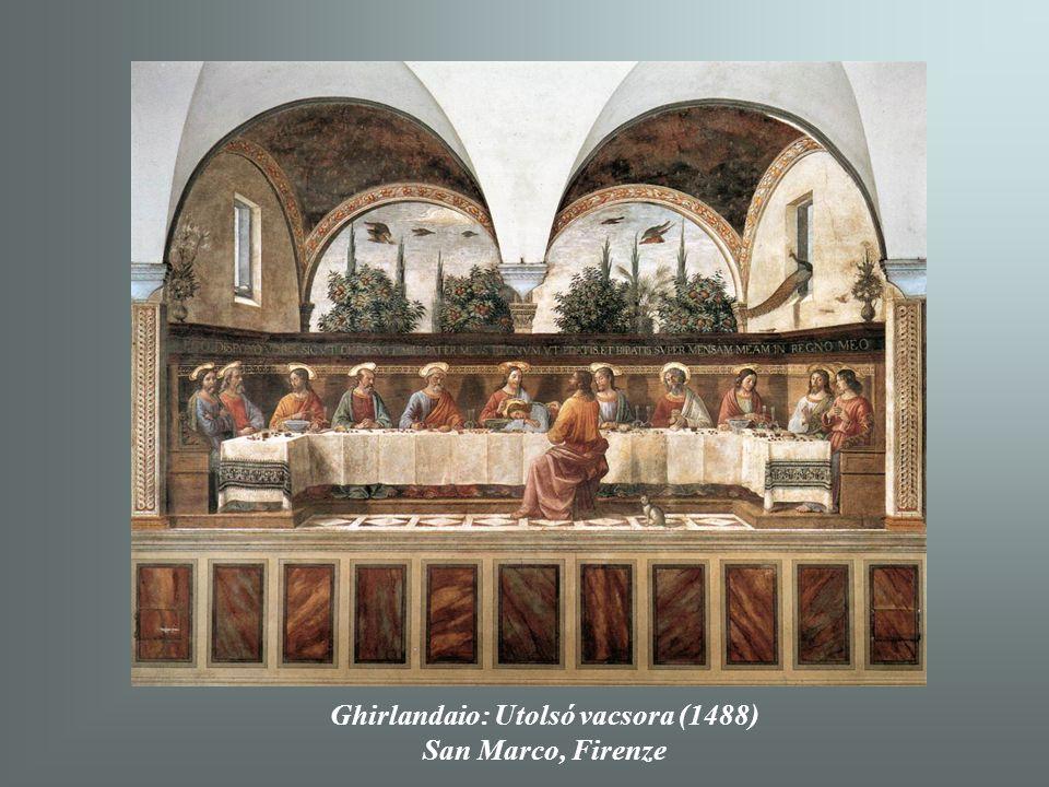 Ghirlandaio: Utolsó vacsora (1488)