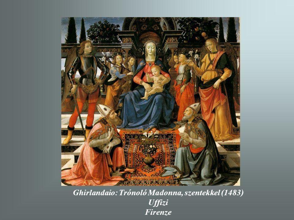 Ghirlandaio: Trónoló Madonna, szentekkel (1483)