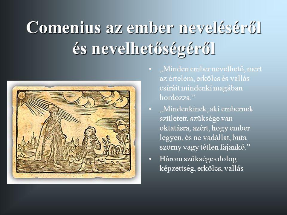 Comenius az ember neveléséről és nevelhetőségéről