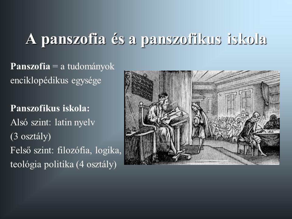 A panszofia és a panszofikus iskola