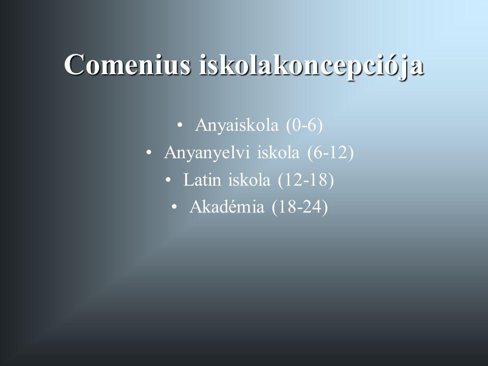 Comenius iskolakoncepciója
