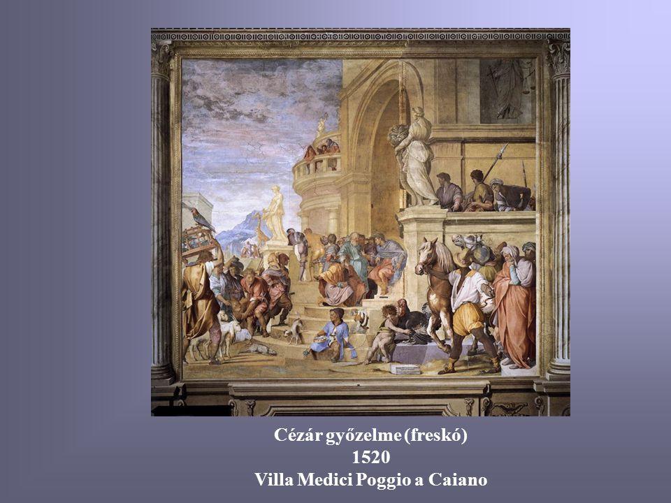Cézár győzelme (freskó) Villa Medici Poggio a Caiano