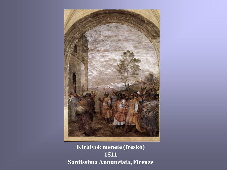 Királyok menete (freskó) Santissima Annunziata, Firenze