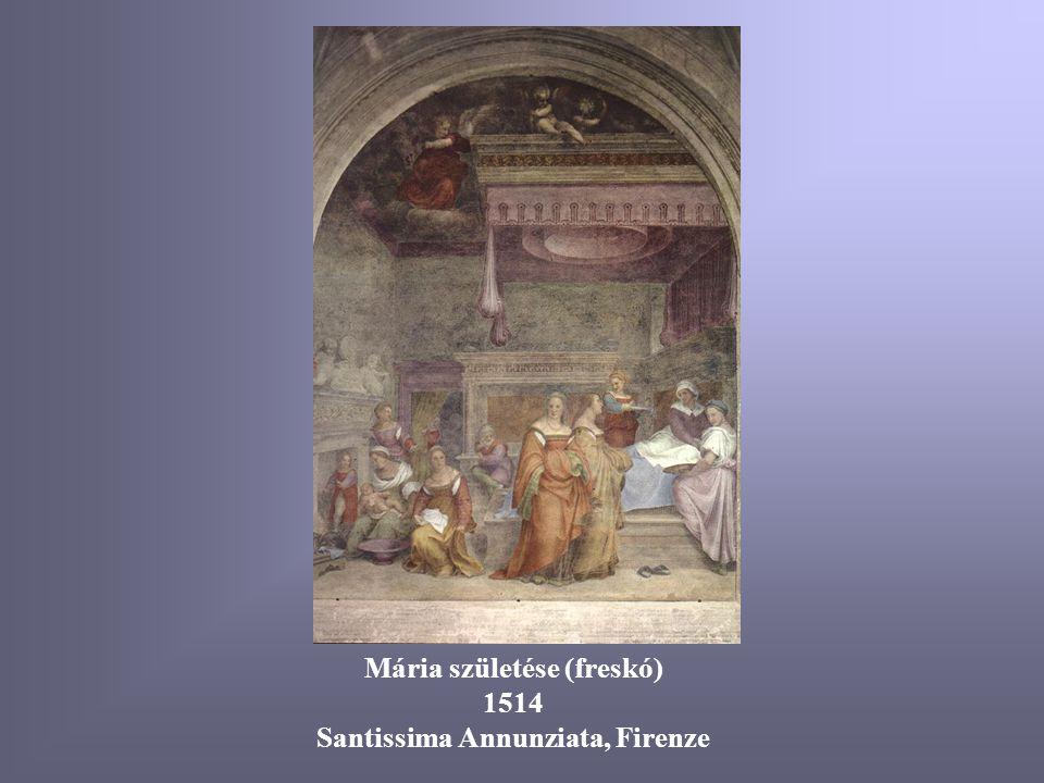Mária születése (freskó) Santissima Annunziata, Firenze