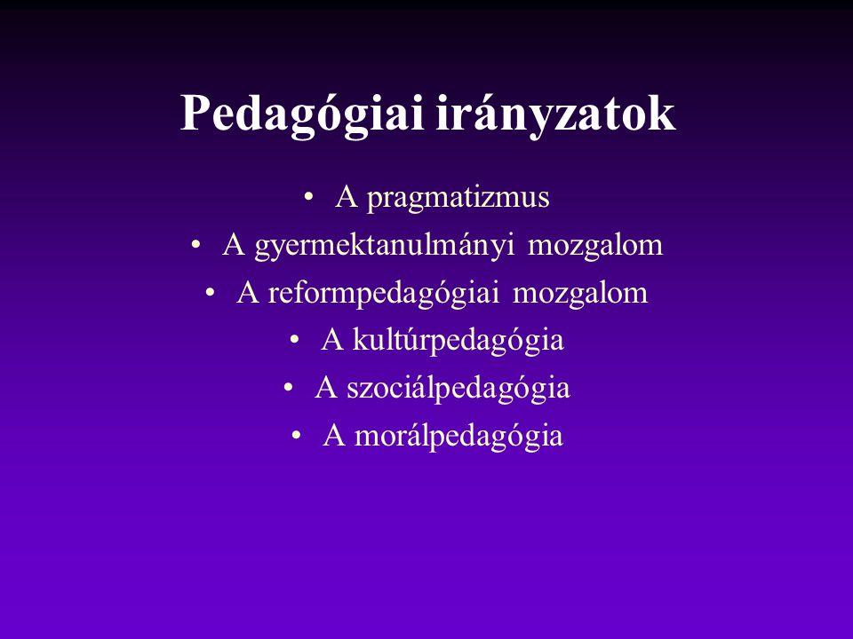 Pedagógiai irányzatok