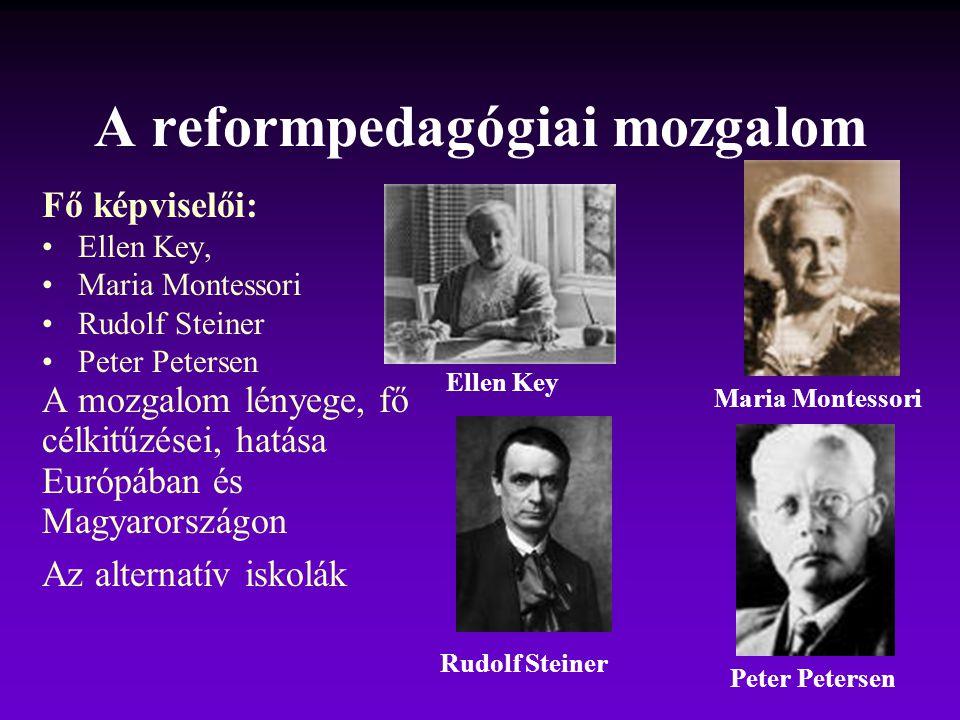 A reformpedagógiai mozgalom