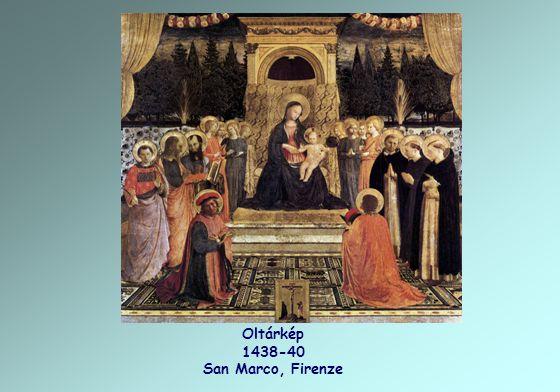 Oltárkép 1438-40 San Marco, Firenze