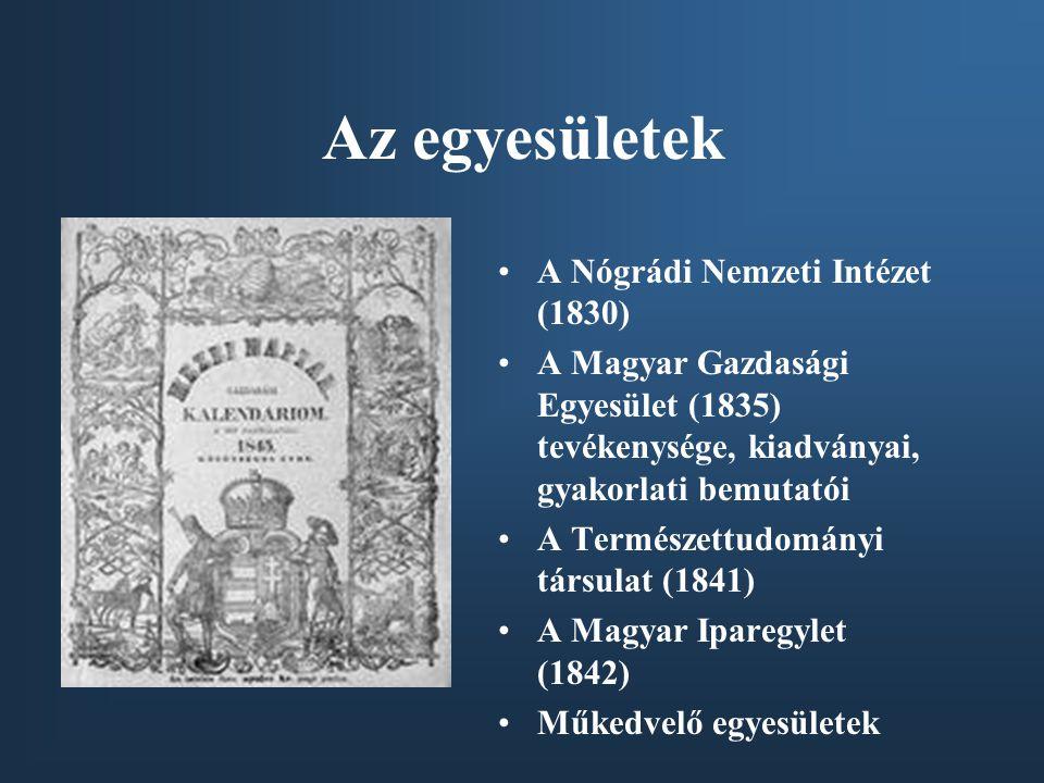Az egyesületek A Nógrádi Nemzeti Intézet (1830)