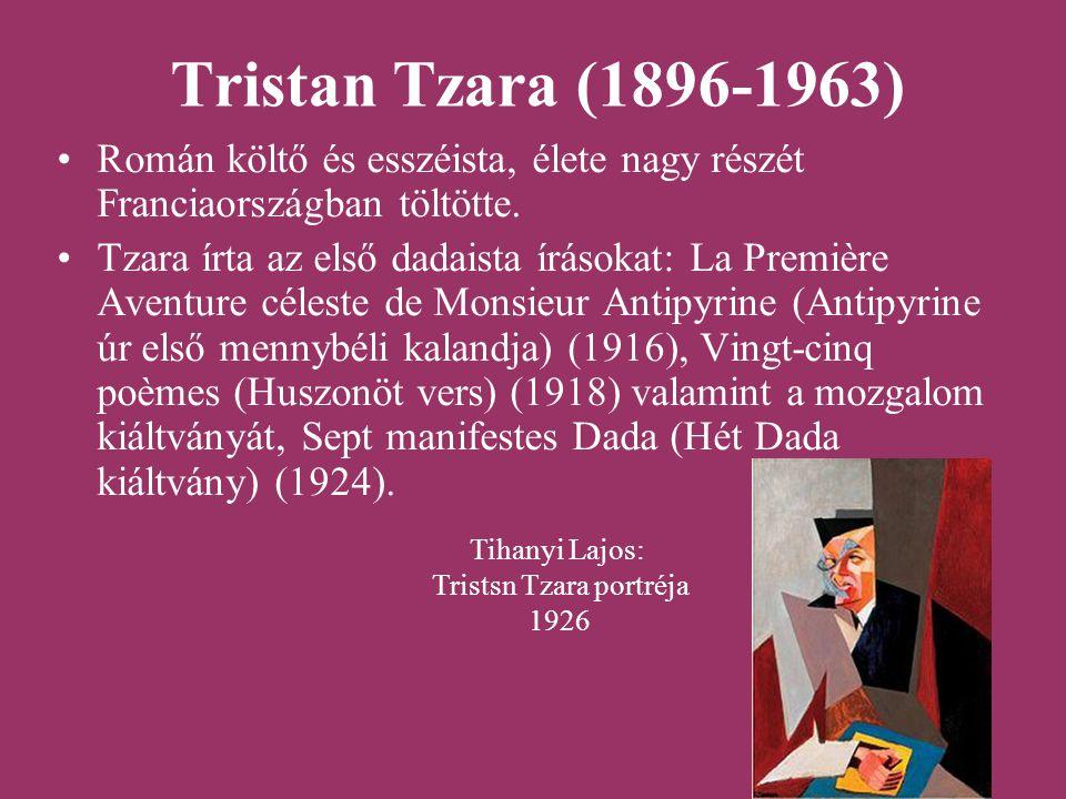 Tristsn Tzara portréja