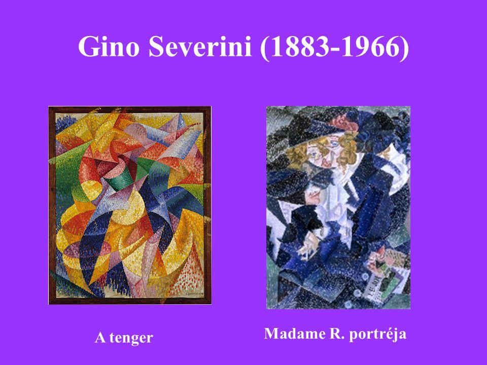 Gino Severini (1883-1966) Madame R. portréja A tenger