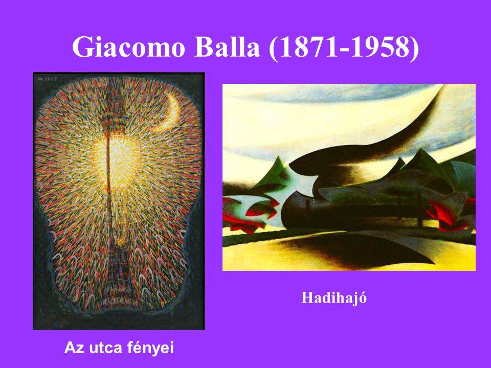 Giacomo Balla (1871-1958) Hadihajó Az utca fényei
