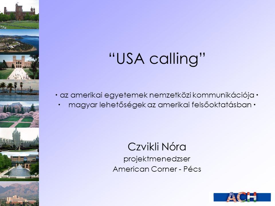 USA calling Czvikli Nóra